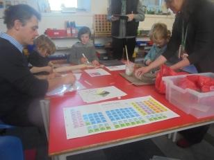 working together on final tile